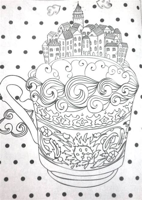 Various themes, artists, difficulty levels and styles. Revista Vida simples colorir - coffee cup adult coloring pages | Colouring art therapy, Coloring ...