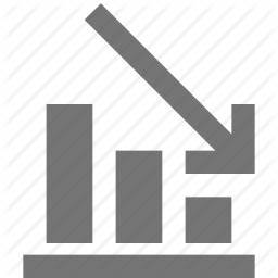 Arrow, decrease, decreasing, graph icon | Icon search engine