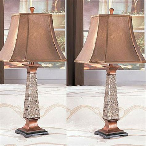 copper table lamps antique finish lighting bedroom living