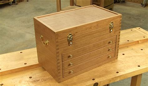 wood tool chest plan build wooden tool chest video