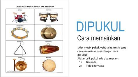 alat musik  dipukul sumber pengetahuan