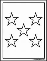 Coloring Stars Star Pages Five Printable Print Pdf Colorwithfuzzy sketch template