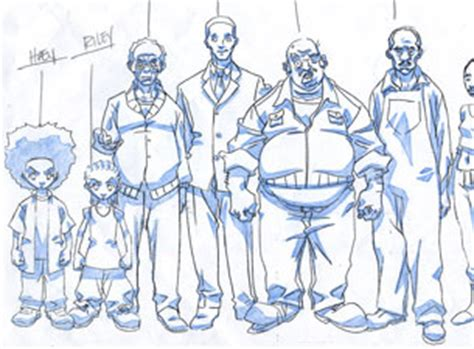 boondocks production art  katrinians art  lesean