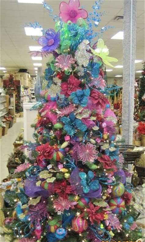 Flocked Christmas Trees Baton Rouge by Brightly Colored Decorations Baton Rouge Christmas Trees