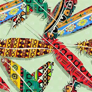 Native american feather seamless pattern Royalty Free ...