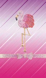 #pink #flamingo #bow #bling #madebyniki | Bow wallpaper ...