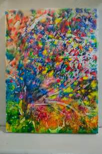 Abstract Melted Crayon Art