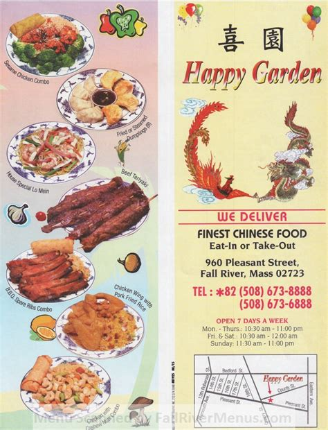 happy garden menu happy garden fall river restaurants
