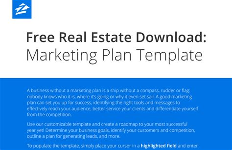 Free real estate business plan template costumepartyrun 2017 best real estate business and marketing plans wajeb Gallery