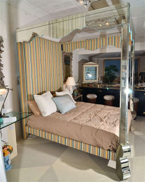 Mirrored And Upholstered Four Poster Canopy Bed At 1stdibs. Kitchen And Bath Unlimited. Bathroom Tile Ideas For Small Bathrooms. Most Durable Hardwood Floors. Baby Furniture Warehouse. Ethan Allen Sofa. Home Restoration. Shower Jets. Wow Furniture