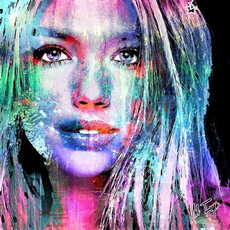 peinture visage femme moderne mel fuger artiste designer mel fuger