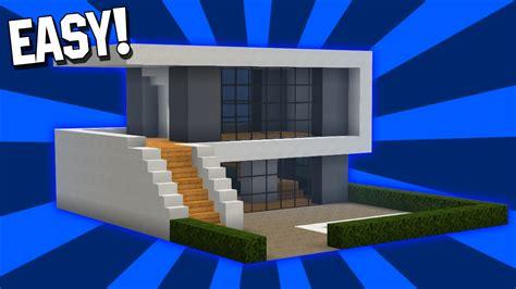 minecraft easy modern house tutorial  easy pcpexboxplaystation youtube