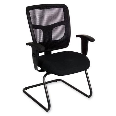 lorell 86000 series mesh side arm guest chair quickship