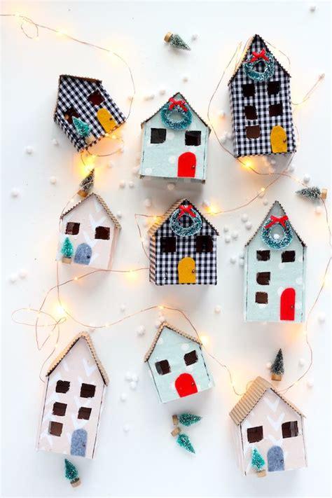 diy mini christmas cardboard houses christmas pinterest