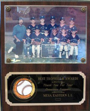 picture plaque holds    photo  trophies