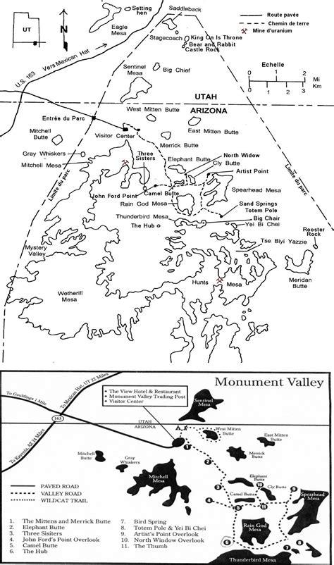 Carte Monument Pdf by Carte Plan Monument Valley Navajo Tribal Park Guide De