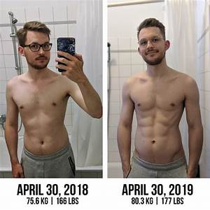 1 Year Cut And Lean Bulk Progress  Powered By Plants  M