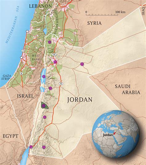 kingdom  jordan interactive map