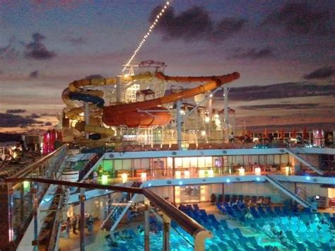 Deck Galveston Island by Top Deck Water Slides Evening View Picture Of Port Of
