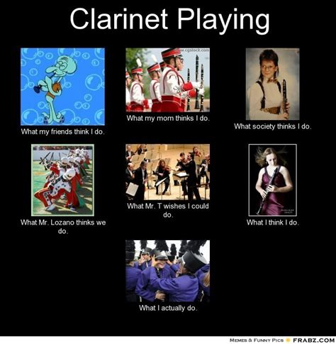 Clarinet Player Meme - clarinet playing meme generator what i do