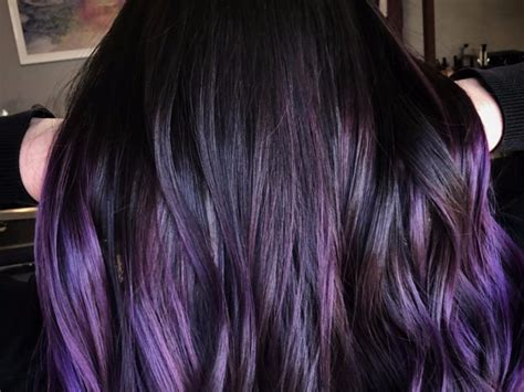 blackberry hair   perfect purple  brunettes