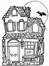 Coloring Haunted Sheets Popular sketch template
