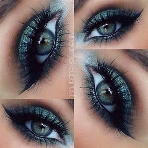 beautiful, blue eyes, eye makeup, green eyes, makeup ...