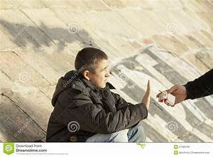 Young Man Refuse A Cigarettes Royalty-Free Stock ...
