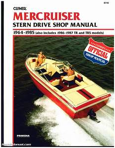 Mercruiser Stern Drive Boat Engine Shop Manual 1964