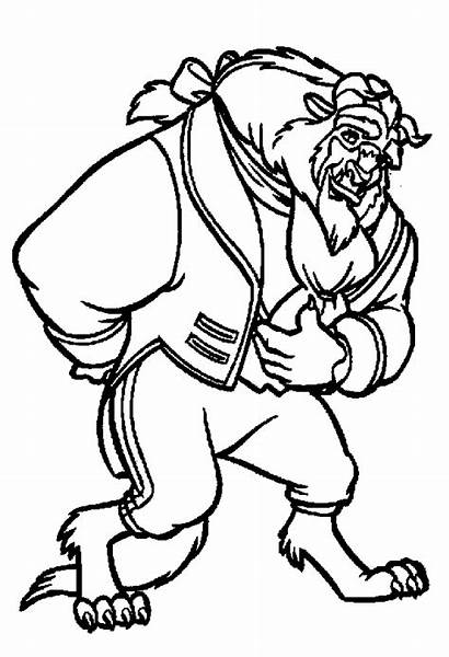 Beast Beauty Coloring Pages Disney Discover Monster