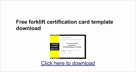 Forklift training template free : Forklift Operator Certificate Template Beautiful forklift Certification Template ...