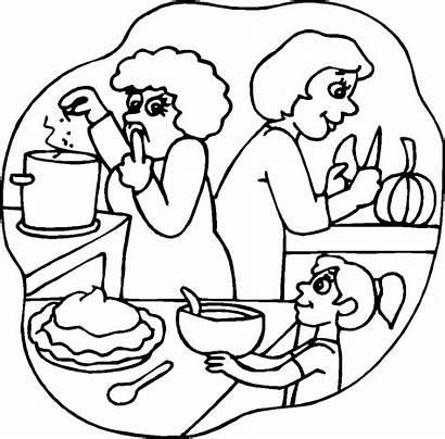 Coloring Pages Cooking Thanksgiving Preschool Pumpkin Pie