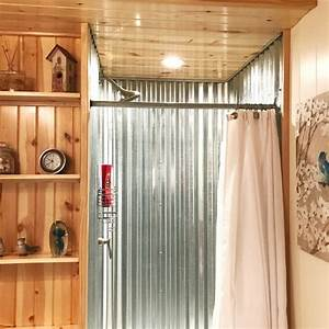 DIY Corrugated Metal Shower An Awful Plumbing Issue