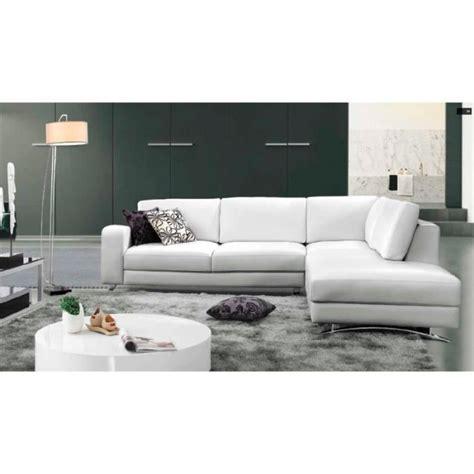 canapé avec 2 angles canapé d 39 angle cuir blanc avec méridienne achat