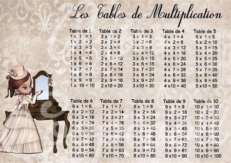 table de multiplication de 27 table de multiplication plastifi 233 e format a4 miss victoria2 papeterie carterie par miss