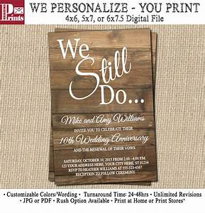 Vow renewal invitation wedding anniversary by puggyprints for Free printable wedding vow renewal invitations