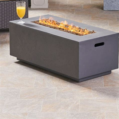 To feel a little exceptional, just enter your outdoor space, where in the evening you can quickly and easily ignite the fire. Latitude Run Caelan Outdoor MgO Concrete Propane Gas Fire Pit Table & Reviews | Wayfair.ca
