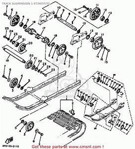 Yamaha Et340 Tg Enticer 1982  1983 Track Suspension 1