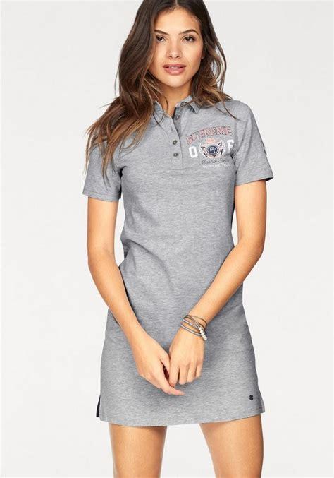 tom tailor polo team shirtkleid mit polokragen und logo