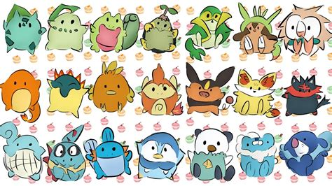 Pokemon Starters From All 7 Generations