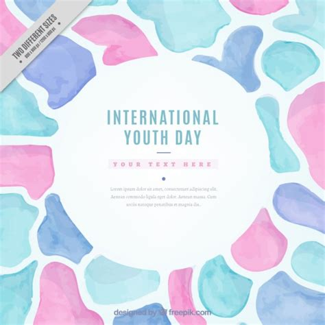 Abstract Shapes Watercolor by Watercolor Abstract Shapes Youth Day Background Vector