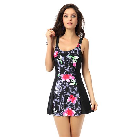 one piece slimming swimsuit swimwear with skirts 8 10 12