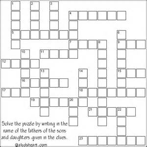 Kids Bible Crossword Puzzle