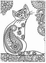 Mandala Cat Coloring Pages Cats Colouring Dogs Getdrawings sketch template