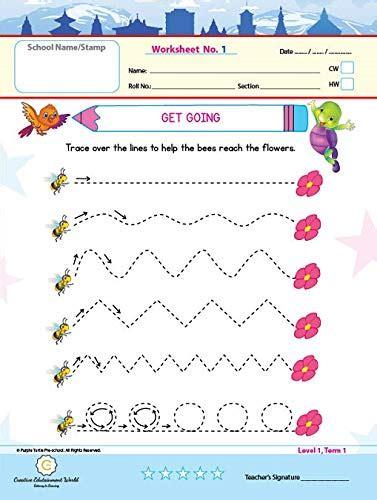 preschool nursery english paper pattern