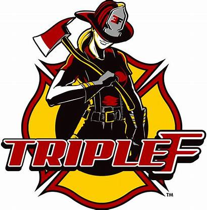 Female Firefighter Blonde Decal Triple Firefighters Rescue