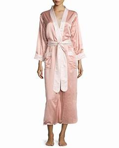 Louis at home monte carlo satin long robe rose gold blush for Robe rose gold
