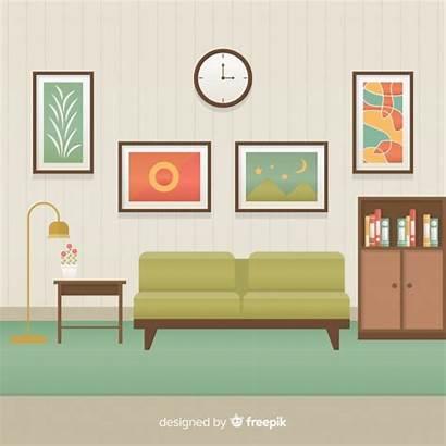 Living Interior Vector Flat Freepik Elegant Para