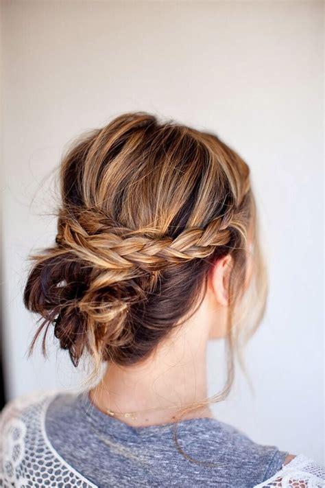quick  simple updo hairstyles  medium hair