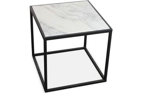 table de chevet en marbre blanc et m 233 tal 41x40 cm venus